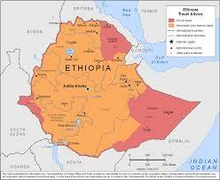 Map Of Ethiopia Smartraveller Gov Au Ethiopia