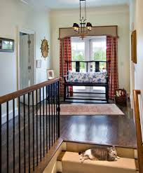 superb wrought iron bench in hall traditional with carpet and wood