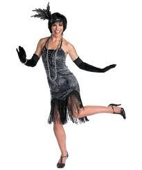Halloween Flapper Costumes Flapper Flirty Costume 1920s Women Flapper Costumes