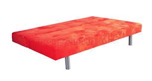 Orange Sleeper Sofa Sleeper Sofa In Kiwi Green Or Orange Microfiber