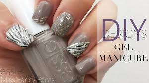 diy gel nails manicure u0026 designs essie miss fancy pants youtube