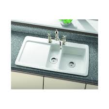 White Ceramic Kitchen Sink 1 5 Bowl Denby Epicurean 1 5 Bowl 965mm X 508mm 2 Tap Holes White