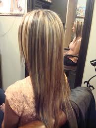 blonde hair with chunky highlights blonde hair with chunky brown highlightscaramel highlights