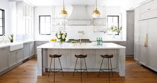 kitchen kitchen island wooden barstool grey wall cabinet