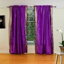 Purple Bedroom Curtains Marvelous Drapes Purple House Home Rod Pocket Sheer Sari Curtain