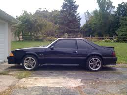 ford mustang 92 1992 ford mustang gt black 5 speed black black interior mustang