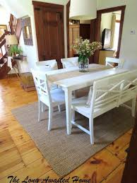 Long Table With Bench White Kitchen Table With Bench Caruba Info