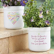 personalized flower pots to heart