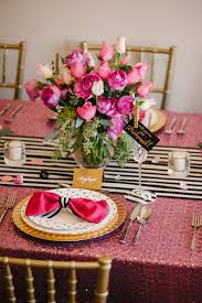 Pink And Gold Table Setting by A Chic And Swanky Kate Spade Inspired Dinner Party The Perfect