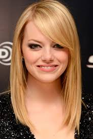 shoulder length straight hair with side bangs hairstyles and