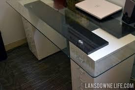 wood desk with glass top wonderful diy glass top desk images best inspiration home design