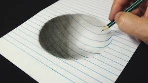 writing on lined paper 3d drawing for kids adults how to draw concave surface with 3d drawing for kids adults how to draw concave surface with pencil art on line paper