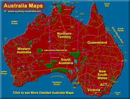 austrelia map australia maps states cities and regions