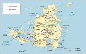 map of st martin road map of martin island netherlands antilles