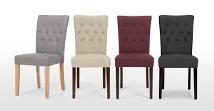 2x flynn dining chairs in graphite grey made com