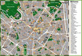 Maps Italy by Maps Update 12001430 Milan Tourist Attractions Map U2013 14 Top