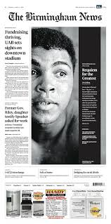 Front Home Design News by Remembering Muhammad Ali 12 Newspaper Front Pages News Adage
