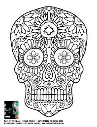 day of the dead skull coloring pages u2013 bestofcoloring com day of