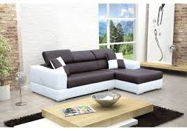 canape madrid canapé design d angle madrid iv cuir pu noir et blanc canapés d