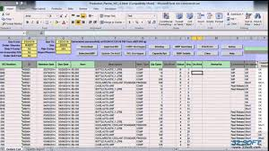 excel template planner production planner wo excel tool for qad 32 soft youtube