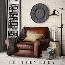 Armchair Set 3d Models Other Pottery Barn Turner Roll Armchair Set