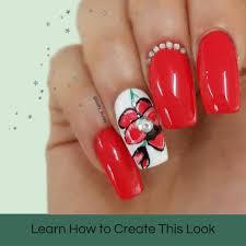 spring flower tutorial u2013 mitty nail art tools u0026 brushes