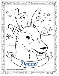 christmas coloring pages santa reindeer