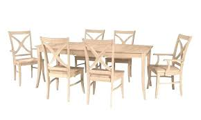 unfinished wood dining table unfinished kitchen table chairs unfinished kitchen chairs photo 1 of