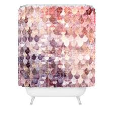 Pink Gingham Shower Curtain Monika Strigel Lily Rose Mermaid Shower Curtain Mermaid Shower