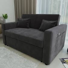Grey Sofa Bed Ravena 2 Seat Sofa Bed 4 Colours Black Brown Charcoal