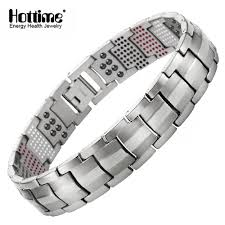 titanium bracelet men images Hottime men jewelry healing magnetic bangle balance health jpg