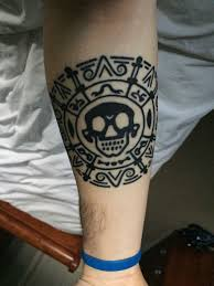 simple calf tattoos pirates of the caribbean movie coin tattoo pirate tattoo