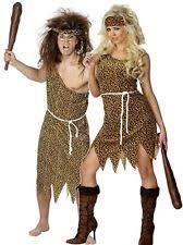 Caveman Couples Halloween Costumes Ladies Mens Couples Caveman U0026 Cavewoman Fancy Dress Costumes