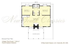 house plans with detached guest house new south classics guest cottage new
