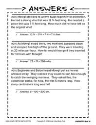 jungle book math problem solving u2013 4th grade by rusty pail learning