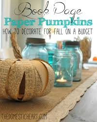 how to make paper pumpkins out of toilet paper rolls and old book