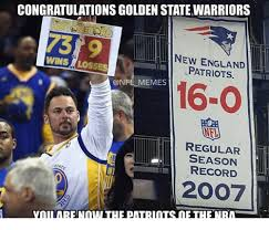 Funny New England Patriots Memes - congratulationsgolden statewarriors new england wins losses patriots