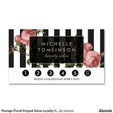 Salon Business Card Ideas Makeup Artist U0026 Hair Stylist Modern Stripes Floral Business Card