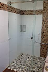 No Shower Door No Threshold Frameless Sliding Glass Shower Door Vancouver Shower