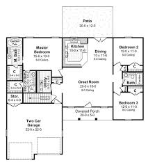 1500 sq ft ranch house plans the bluebonnet 5750 3 bedrooms and 2 5 baths the house designers