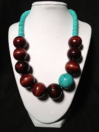 make necklace from beads images Best 25 wooden bead necklaces ideas agate necklace jpg