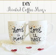 s day mugs diy painted coffee mugs meatloaf and melodrama