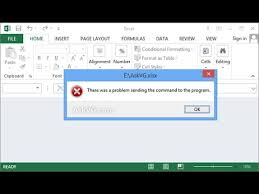 page layout program exles how to fix excel 2007 error there was a problem sending the command