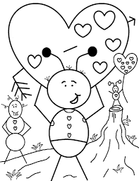 free printable valentine coloring pages for kids inside valentine