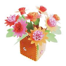anak anak diy handworking mainan 3d eva busa pot bunga buatan