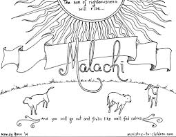 this free coloring page is based on the book of malachi it u0027s one