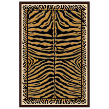 Kingdom Rugs 6x9 U0027 Donnieann Kingdom Area Rug Tiger Stripe 215408 Rugs At