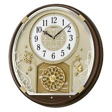 seiko amazing melodies in motion wall clock 16 6 in wide