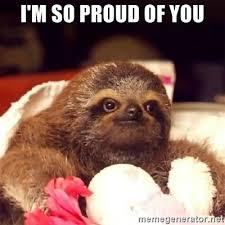 Sloth Meme Maker - i m so proud of you warped wisdom sloth meme generator