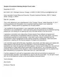 Sample Resume Investment Banking Cover Letter Investment Cover Letter Investment Cover Letter
